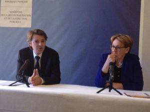François Baroin et Marylise Lebranchu - Tous droits réservés La Documentation Parlementaire
